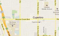 Map of Cupertino