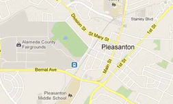 Map of Pleasanton