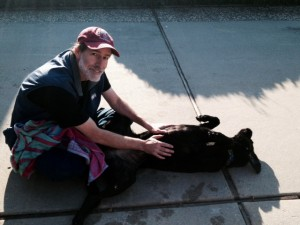 Chris & Chloe -- sunning after her bath
